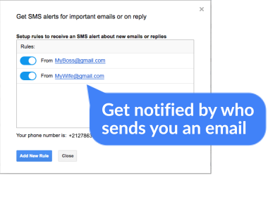 Get Notified By Who Sends You an Email